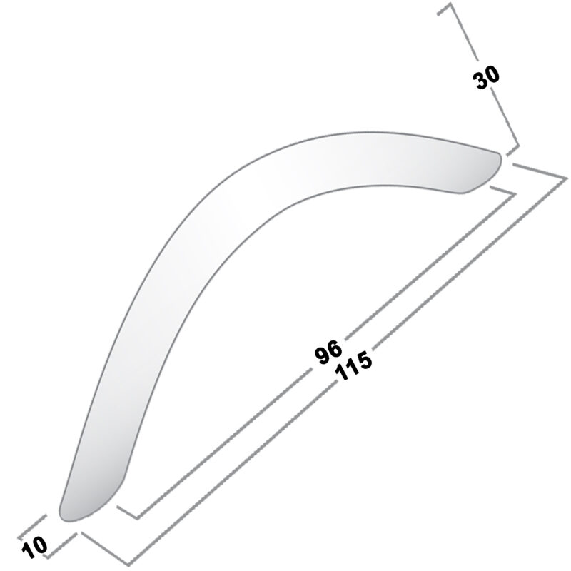 Castella Contour Eclipse Long Bow Polished Chrome 96mm Handle 04 096 06 Diagram 1