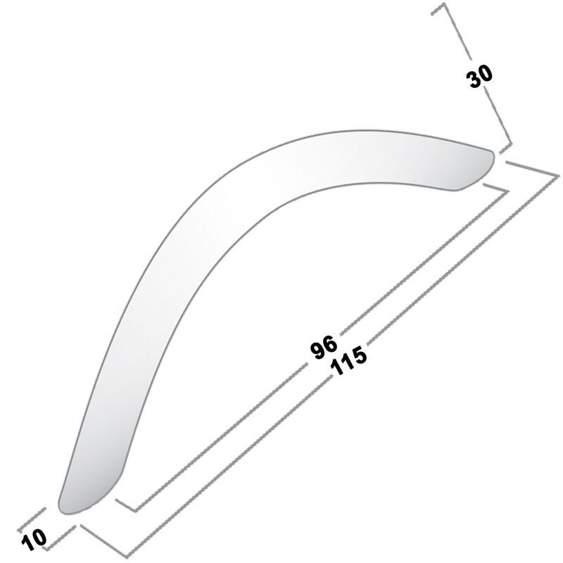 Castella Contour Eclipse Long Bow Polished Chrome 96mm Handle 04 096 06 Diagram