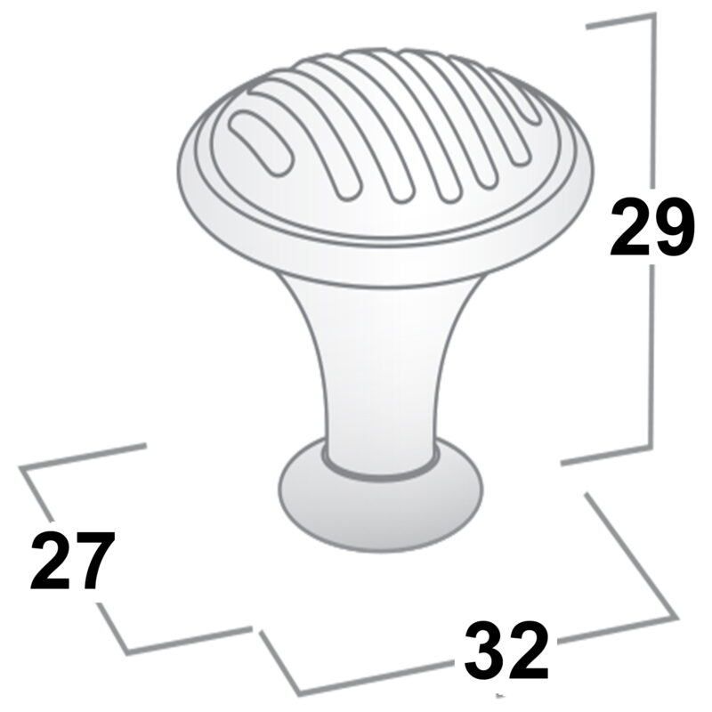 Castella Fj Collection Brushed Nickel 32mm Knob 53 032 10 Diagram