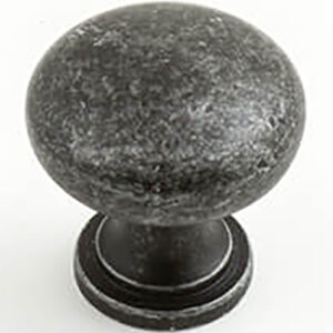 Castella Heritage Shaker Antique Black 30mm Round Knob 50 030 001