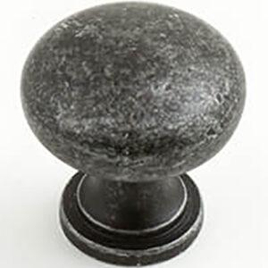 Castella Heritage Shaker Antique Black 30mm Round Knob 50 030 001