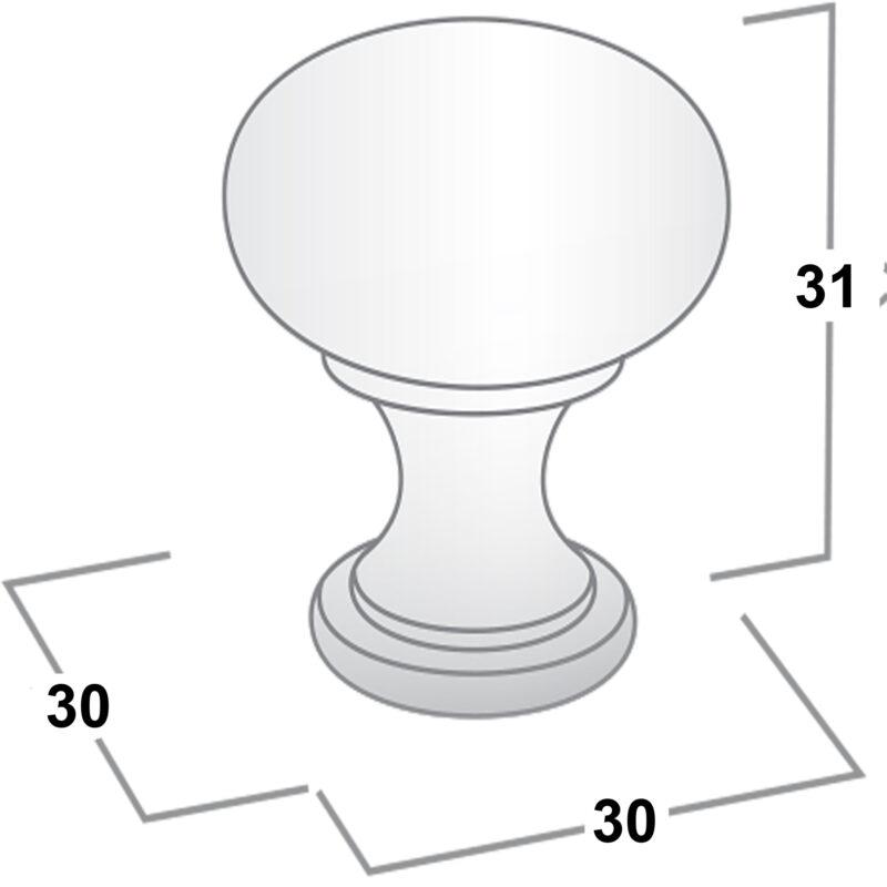 Castella Heritage Shaker Antique Black 30mm Round Knob 50 030 001 Diagram