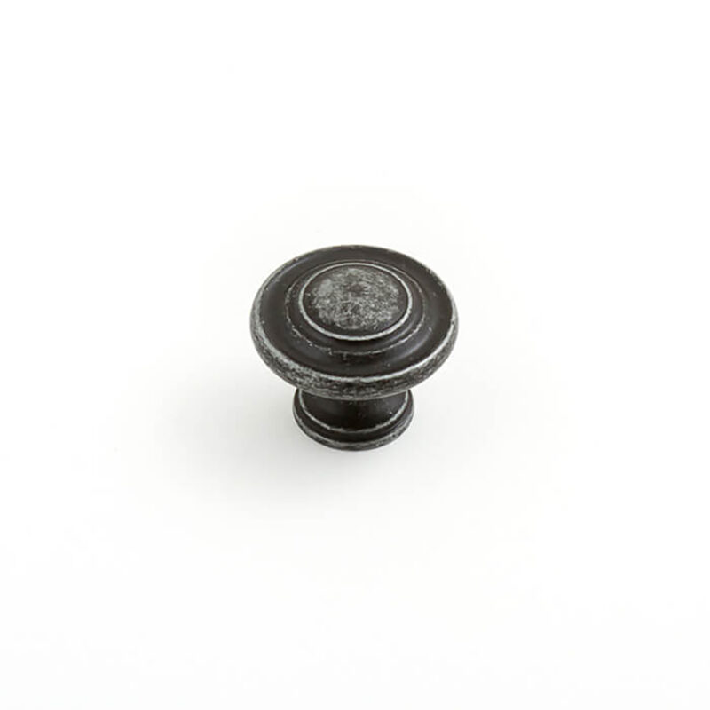 Castella Heritage Shaker Antique Black 34mm Fluted Knob 56 034 001 1