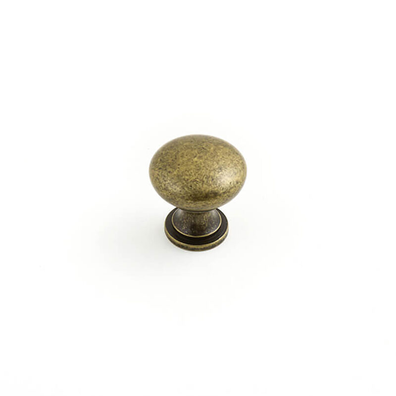 Castella Heritage Shaker Antique Brass 30mm Round Knob 50 030 003 1