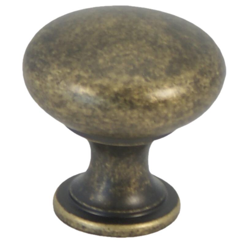Castella Heritage Shaker Antique Brass 30mm Round Knob 50 030 003 2