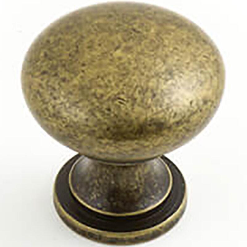 Castella Heritage Shaker Antique Brass 30mm Round Knob 50 030 003