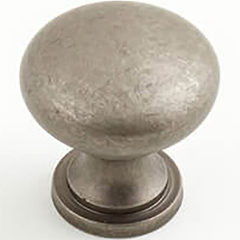 Castella Heritage Shaker Pewter 30mm Round Knob 50 030 014
