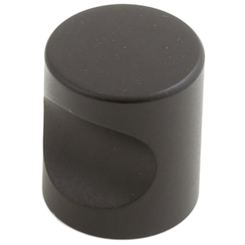 Castella Minimal Micro Matt Black Cylinder 20mm Knob 70 020 04 2