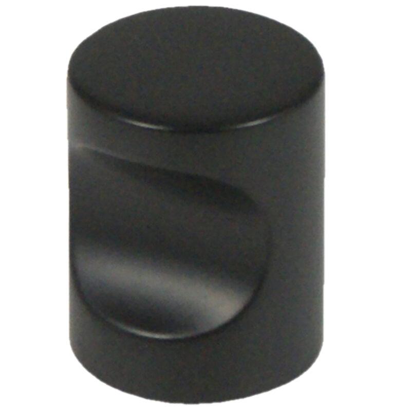 Castella Minimal Micro Matt Black Cylinder 20mm Knob 70 020 04