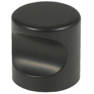 Castella Minimal Micro Matt Black Cylinder 25mm Knob 70 025 04