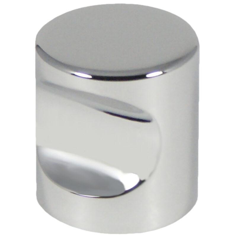 Castella Minimal Micro Polished Chrome Cylinder 25mm Knob 70 025 06