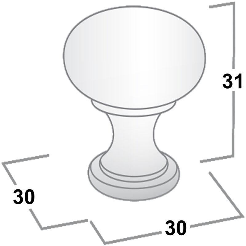 Castella Nostalgia Kennedy Polished Chrome 30mm Knob 050 030 06 Diagram