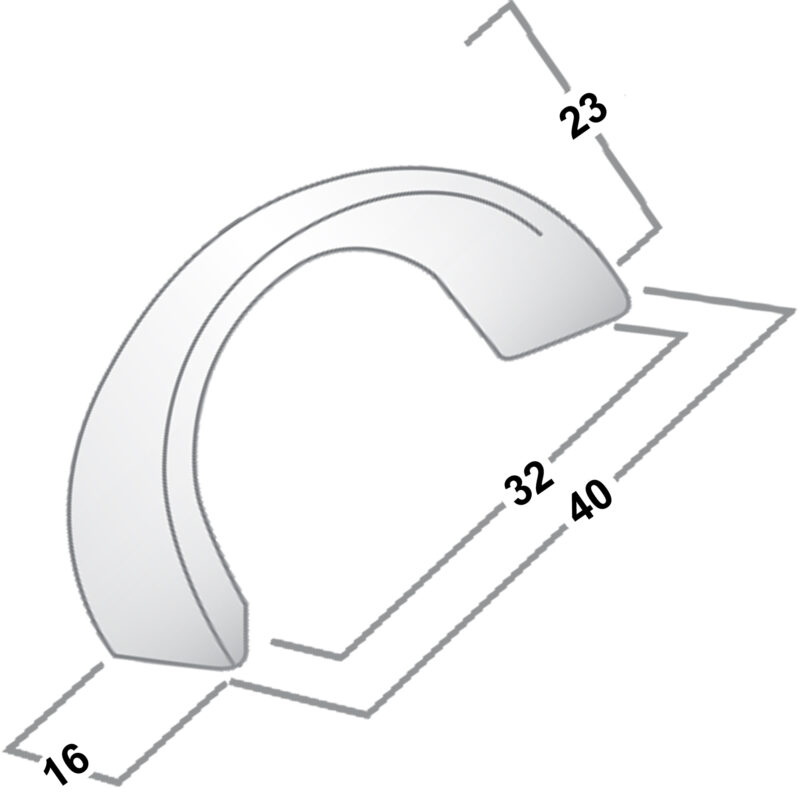 Castella Nostalgia Kennedy Polished Chrome 32mm C Ring Pull 019 032 06 Diagram