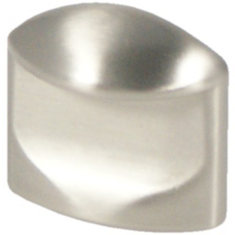 Castella Retro Contour 24mm Flat Brushed Nickel Knob 18 024 10