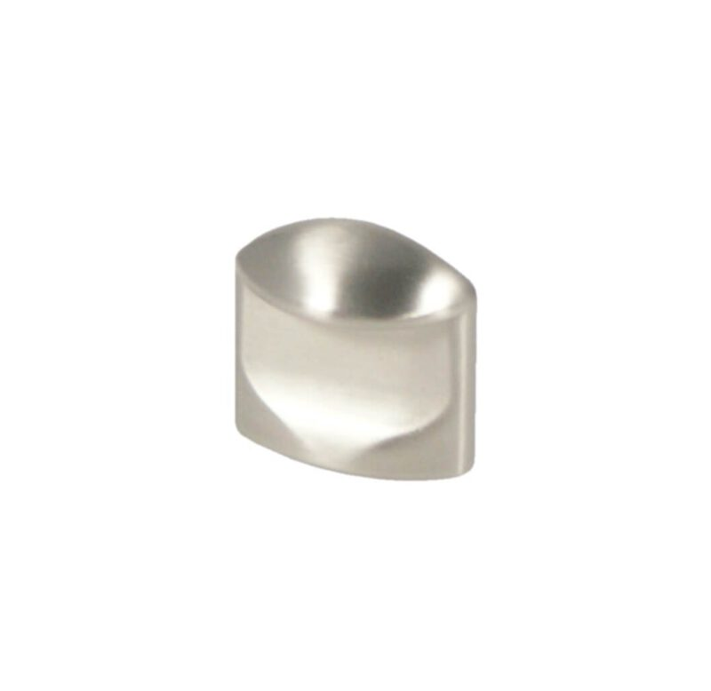 Castella Retro Contour 24mm Flat Brushed Nickel Thumbnail Knob 18 024 10 2