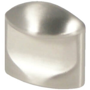 Castella Retro Contour 24mm Flat Brushed Nickel Thumbnail Knob 18 024 10
