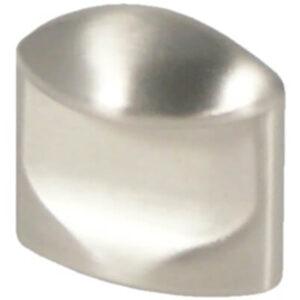 Castella Retro Contour 24mm Flat Brushed Nickel Thumbnail Knob 18 024 10