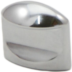 Castella Retro Contour 24mm Flat Polished Chrome Knob 18 024 06 1
