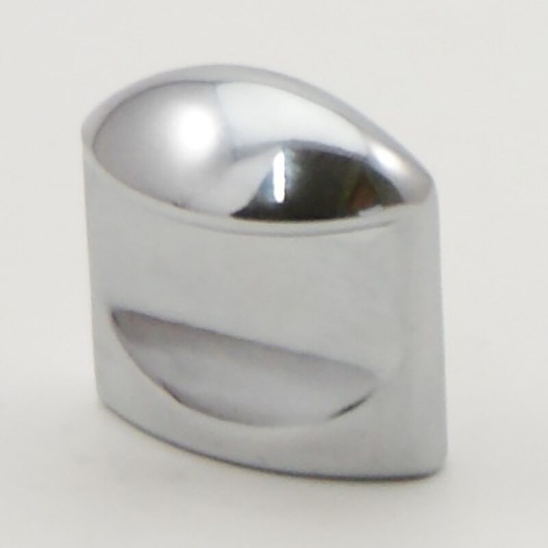 Castella Retro Contour 24mm Flat Polished Chrome Knob 18 024 06 2