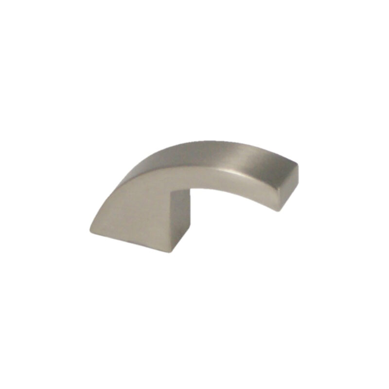 Castella Retro Curve Narrow Curved Knob 16 035 10 35 8 20 Brushed Nickel 2