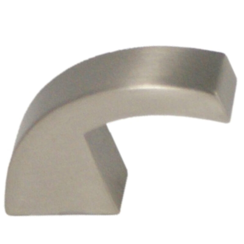Castella Retro Curve Narrow Curved Knob 16 035 10 35 8 20 Brushed Nickel