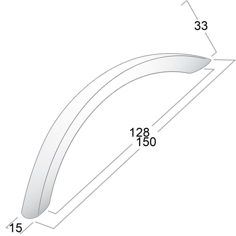 Castella Statement Condo Aluminium128mm Bow Handle 049 128 11 Diagram