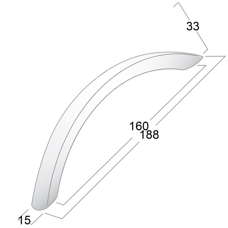 Castella Statement Condo Aluminium160mm Bow Handle 049 160 11 Diagram