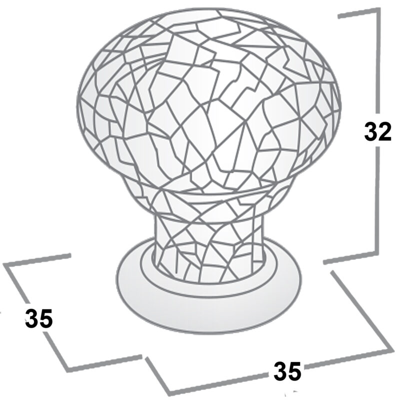 Castella Heritage Estate White Crackle Porcelain With Pewter Base 35mm Round Knob 62 035 16 Diagram