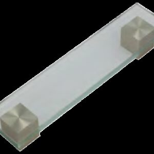 Dorset Verve Collection Glass Dull Brushed Nickel 160mm Square End Handle