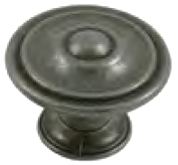 Dorset Rivoli Collection European Pewter 35mm Round Concentric Knob