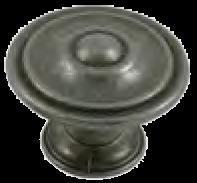 Dorset Rivoli Collection European Pewter 35mm Round Concentric Knob