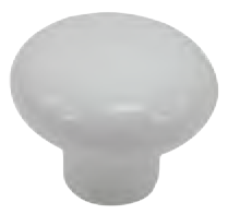 Dorset Rivoli Collection White Porcelain 31mm Round Knob