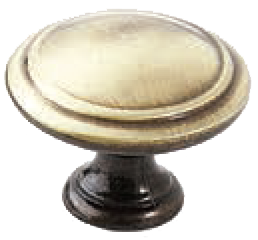 Dorset Pineta Collection Hand Polished Antique Brass Zinc Alloy 35mm Round Concentric Knob