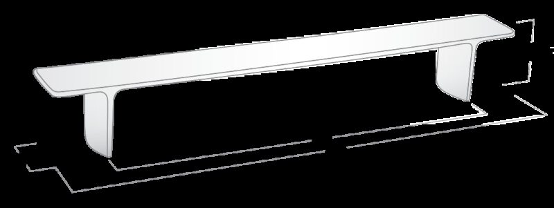 681 Castella Estamp Jazz Brushed Nickel 224mm Handle
