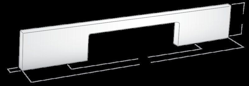 Castella Estamp I-Spazio Series Satin Chrome 128mm Handle