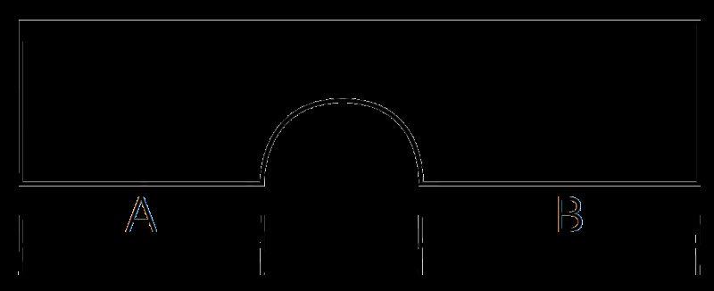 Castella Estamp I-Spazio Series Matt Black 192mm Handle