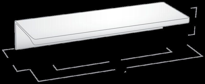 Castella Estamp Synthesis Series Satin Chrome 96mm Handle