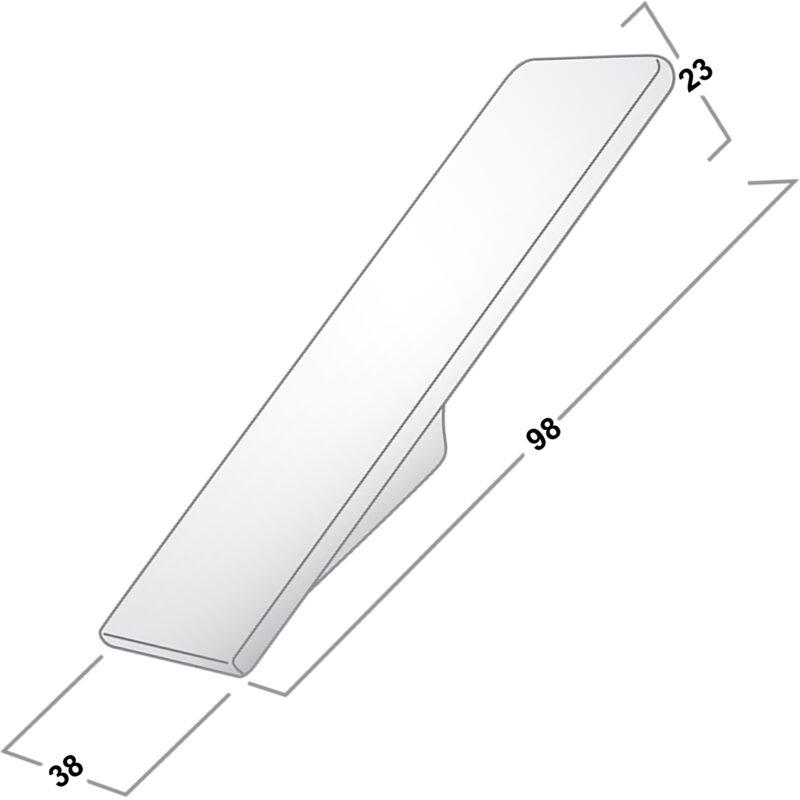Castella Geometric Vertex Satin Chrome 16mm Handle Coat Hook 700 016 15 Diagram