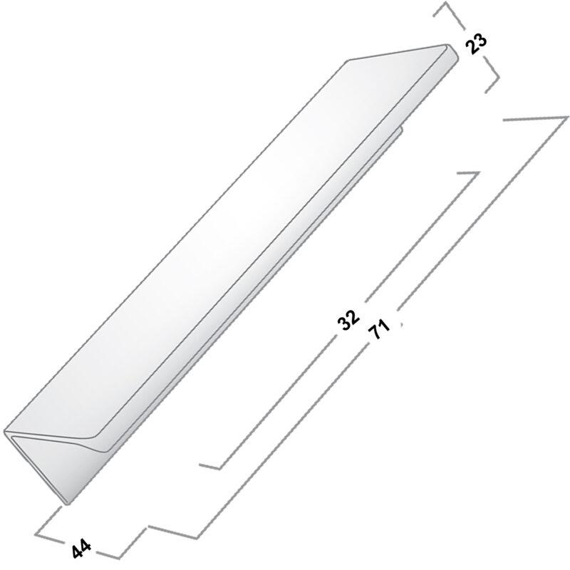 Castella Minimal Blade 32mm Satin Chrome Lip Pull Handle Sah 712 032 15 Diagram