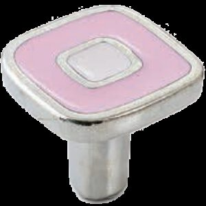 Dorset Vivo Collection Nickel Plate Pink and Light Pink 30mm Knob