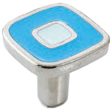 Dorset Vivo Collection Nickel Plate Blue and Light Blue 30mm Knob