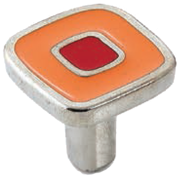 Dorset Vivo Collection Nickel Plate Red and Orange 30mm Knob