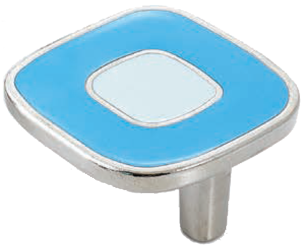 Dorset Vivo Collection Nickel Plate Blue and Light Blue 52mm Knob