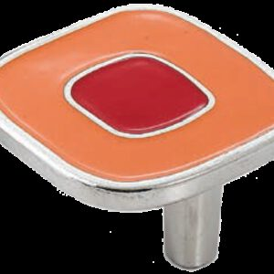 Dorset Vivo Collection Nickel Plate Red and Orange 52mm Knob