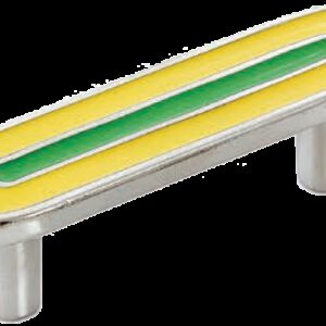 Dorset Vivo Collection Nickel Plate Yellow and Green 64mm Handle