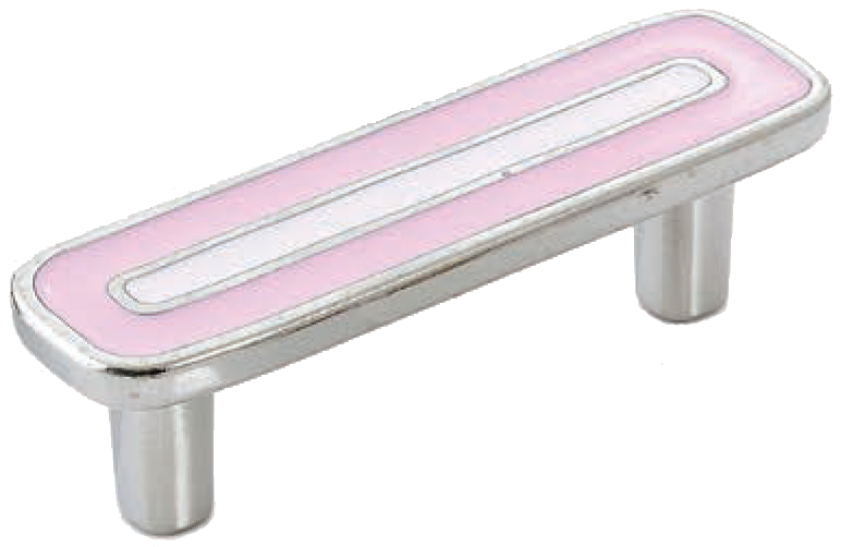 Dorset Vivo Collection Nickel Plate Pink and Light Pink 64mm Handle