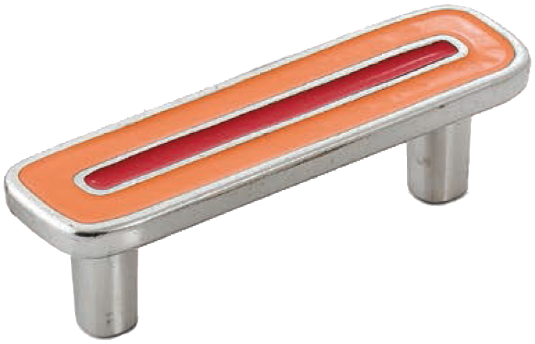 Dorset Vivo Collection Nickel Plate Red and Orange 64mm Handle