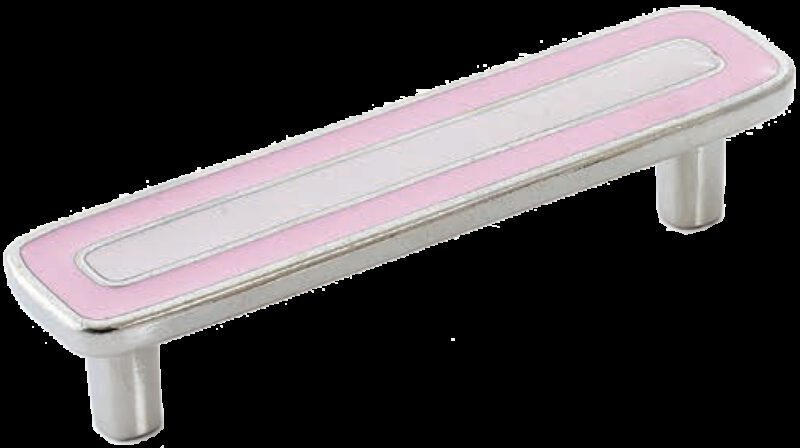 Dorset Vivo Collection Nickel Plate Pink and Light Pink 96mm Handle