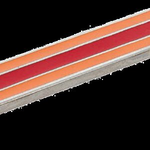 Dorset Vivo Collection Nickel Plate Red and Orange 96mm Handle