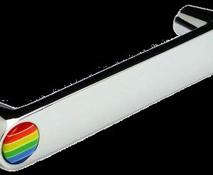 Rainbow Collection Chrome Plated Cone Shaped 96mm Handle